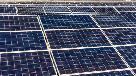 Rows of sections of sun panels under the open sky Reklamní fotografie