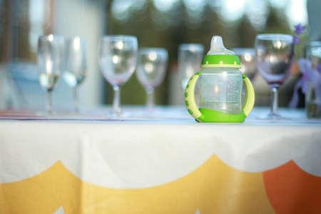 nursing bottle: baby bottle Stock Photo