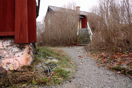 distant spot: Rural house in Sweden, municipality of Sala in Sweden  Stock Photo