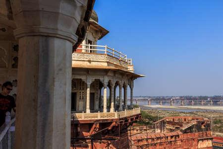 uttar pradesh: The prison of Shah Jahan in the afternoonAgra, Uttar Pradesh India   02 2013