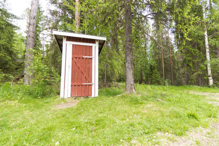 outhouse: Outhouse at a halting place site in mid Sweden