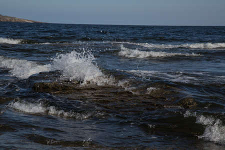 A piece of coast line called Rotsidan at Hoega kusten, Sweden photo