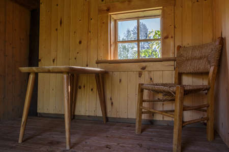 vibrant cottage: Renovated cottage in an ancinent village Tivedstorp with roots from 1600 century witch now is a public (owned by the nation - us) national park Stock Photo