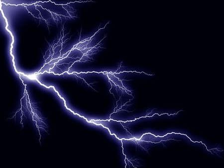 rayo electrico: Thunderbolt tormenta de rayos Foto de archivo