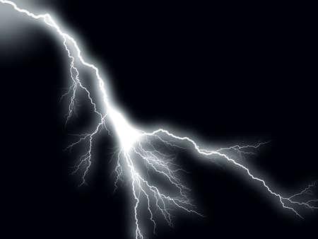Thunderbolt storm lightning Stock Photo - 3888411