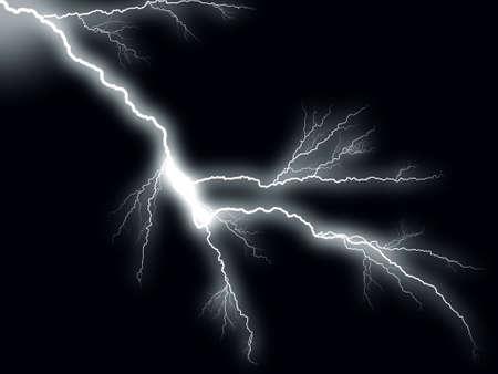 Thunderbolt storm lightning Stock Photo - 3888412