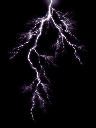 lightning strike: Thunderbolt storm lightning