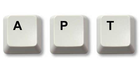 apt: APT word written from computer keyboard keys