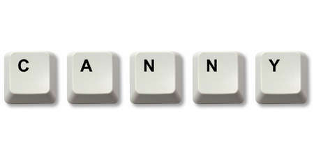 canny: CANNY word written from computer keyboard keys