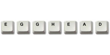 egghead: EGGHEAD parola scritta dalla tastiera del computer chiavi Archivio Fotografico