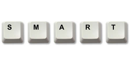 titled: SMART word written from computer keyboard keys Stock Photo
