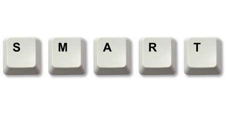 SMART word written from computer keyboard keys Stock Photo