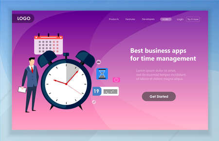 Creative website template design. Vector illustration of web page design for website and mobile website development. Easy to edit and customize. Illustration