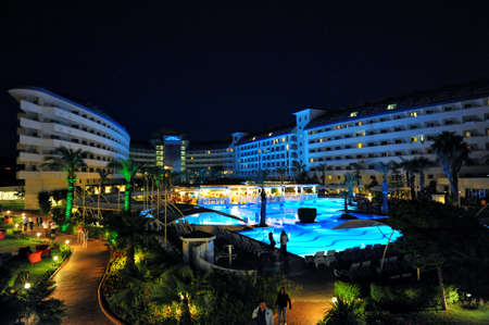 Side, Turkey - April 16, 2014: Luxurious 5-star hotel Crystal Admiral Resort in Side. Is a popular tourist destination