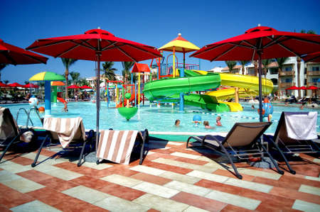 Hurghada, Egypt - August 15, 2015: Luxurious 5-star hotel Dana Beach Resort in Hurghada is one of the Pickalbatros. Is a popular tourist destination especially in the winter of northern countries