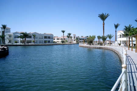 Hurghada, Egypt - August 15, 2015: Luxurious 5-star hotel Dana Beach Resort in Hurghada is one of the Pickalbatros. The magnificent resort complex built on the beautiful Red Sea coast. Editorial