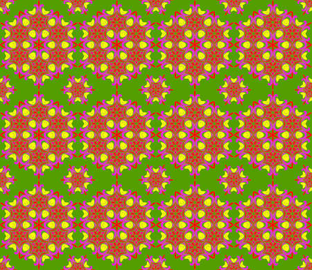 Seamless pattern in arabic or indian style. Arabesque mandala indian motif retro vintage
