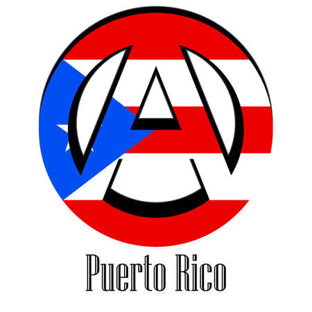 Flag of Puerto Rico of the world in the form of a sign of anarchy, which stands for freedom and equality of people.