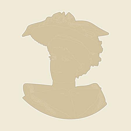 Elegant vintage terracotta retro bas-relief. Design vintage romantic