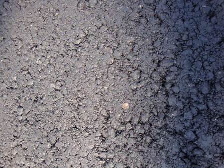 Surface grunge rough of asphalt, Tarmac grey grainy road, Texture Background, Top view Stockfoto