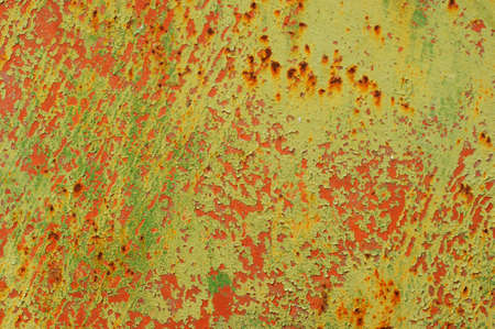 Grunge texture of old rusty metal surface with scratches and cracks