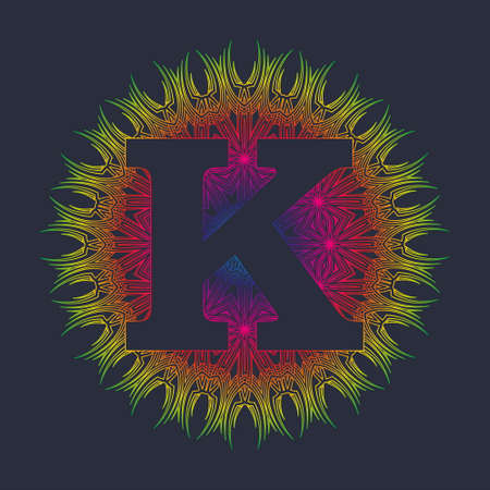Capital letter K of the alphabet as a monogram. You can create stunning foiled, sketched, embossed or engraved projects for yourself, as a personalized gift or to sell to your customers