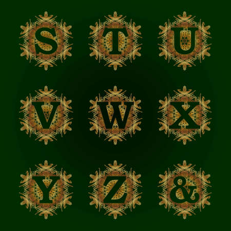 Capital letter of the alphabet as a monogram. Ilustrace