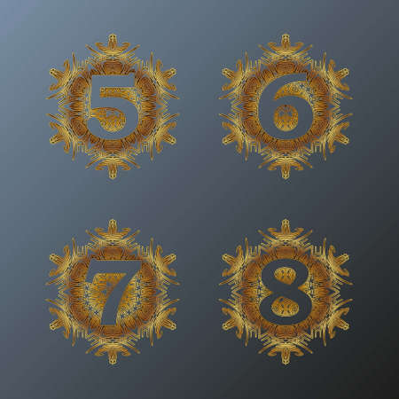 The figure is like a monogram in the form of a mandala.