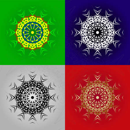 The figure is like a monogram in the form of a mandala. You can create stunning foiled, sketched, embossed or engraved projects for yourself, as a personalized gift or to sell to your customers Ilustrace