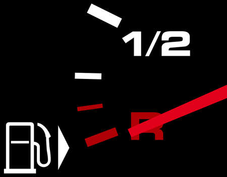 empty tank: Tachometer indicates which on an empty tank