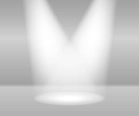 White spotlights on grey background Vector
