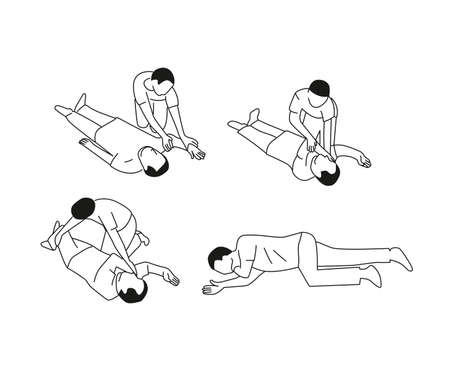 First aid tutorial Illustration