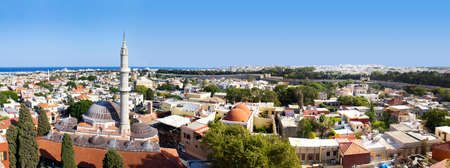 Panorama of Rhodos, Greece photo