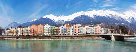 Panorama of Innsbruck with Inn photo