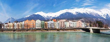 Panorama of Innsbruck with Inn
