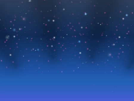 night sky: Abstract blue background with stars and light Stock Photo