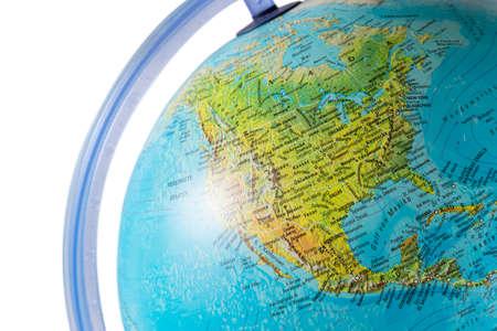 North America on a globe photo
