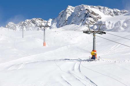 Ski-lift in the italian alps