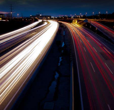 tonight: Traffic night. Stock Photo