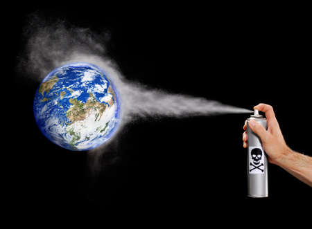 Poisonous spray directed at planet earth