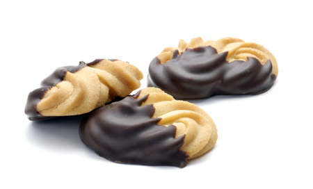 dipped: Cookies dipped with melted chocolate