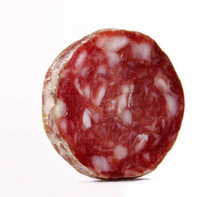 Sliced salami Stock Photo - 22755396