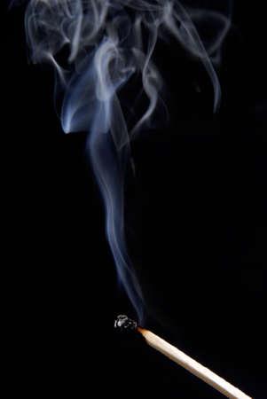 matchstick: Matchstick with smoke