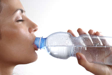 bottle nose: Woman drinking from water bottle