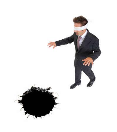 zwart gat: blinddoek zaken naderen van een zwart gat