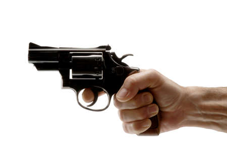 Holding a revolver photo