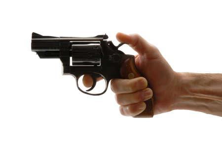 Holding a revolver