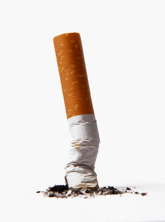 crushed: Extinguished cigarette Stock Photo