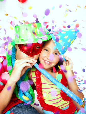 Children at a party Stock Photo