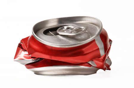 soda can: Crushed soda can